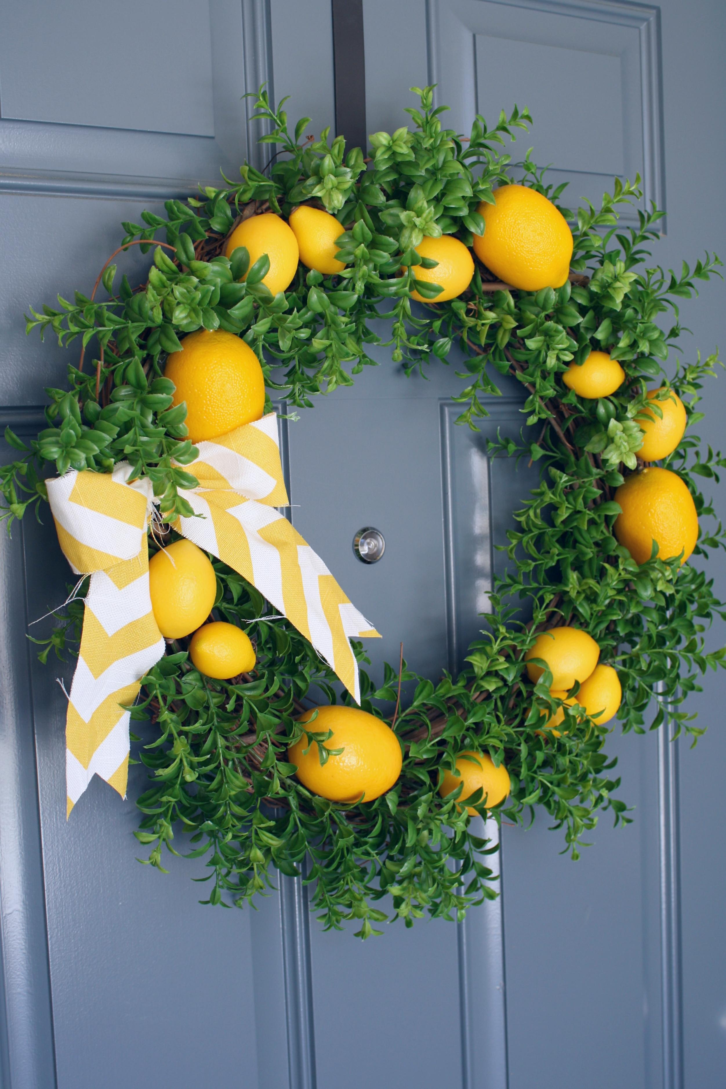 Summer Front Door Wreath: Summer Lemon Wreath