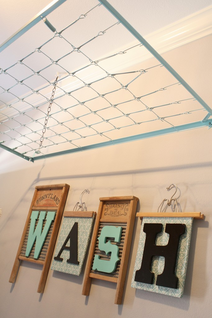 Rooms: Crib Spring Drying Rack {Wash Room Decor}