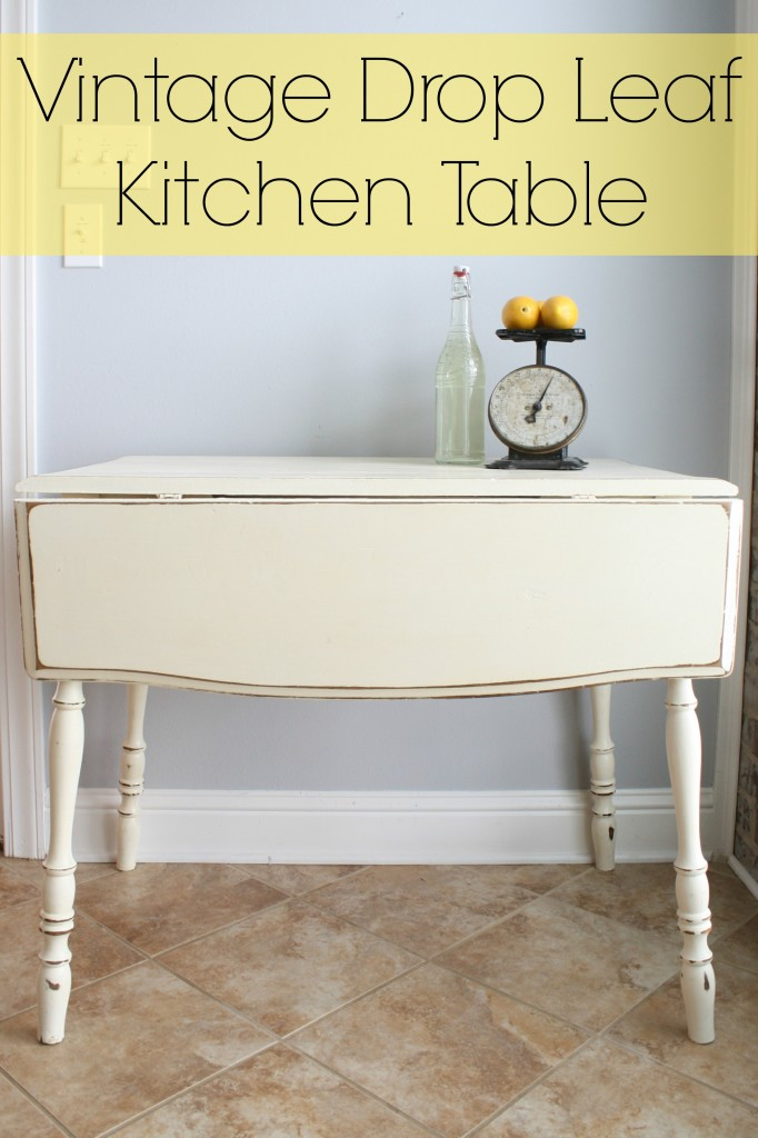 Vintage Drop Leaf Kitchen Table @adiamondinthestuff