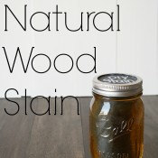 DIY Natural Wood Stain