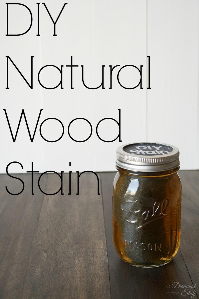 DIY Natural Wood Stain