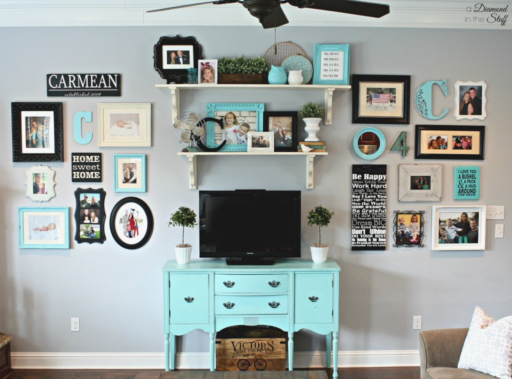 Bright Living Room Wall Gallery