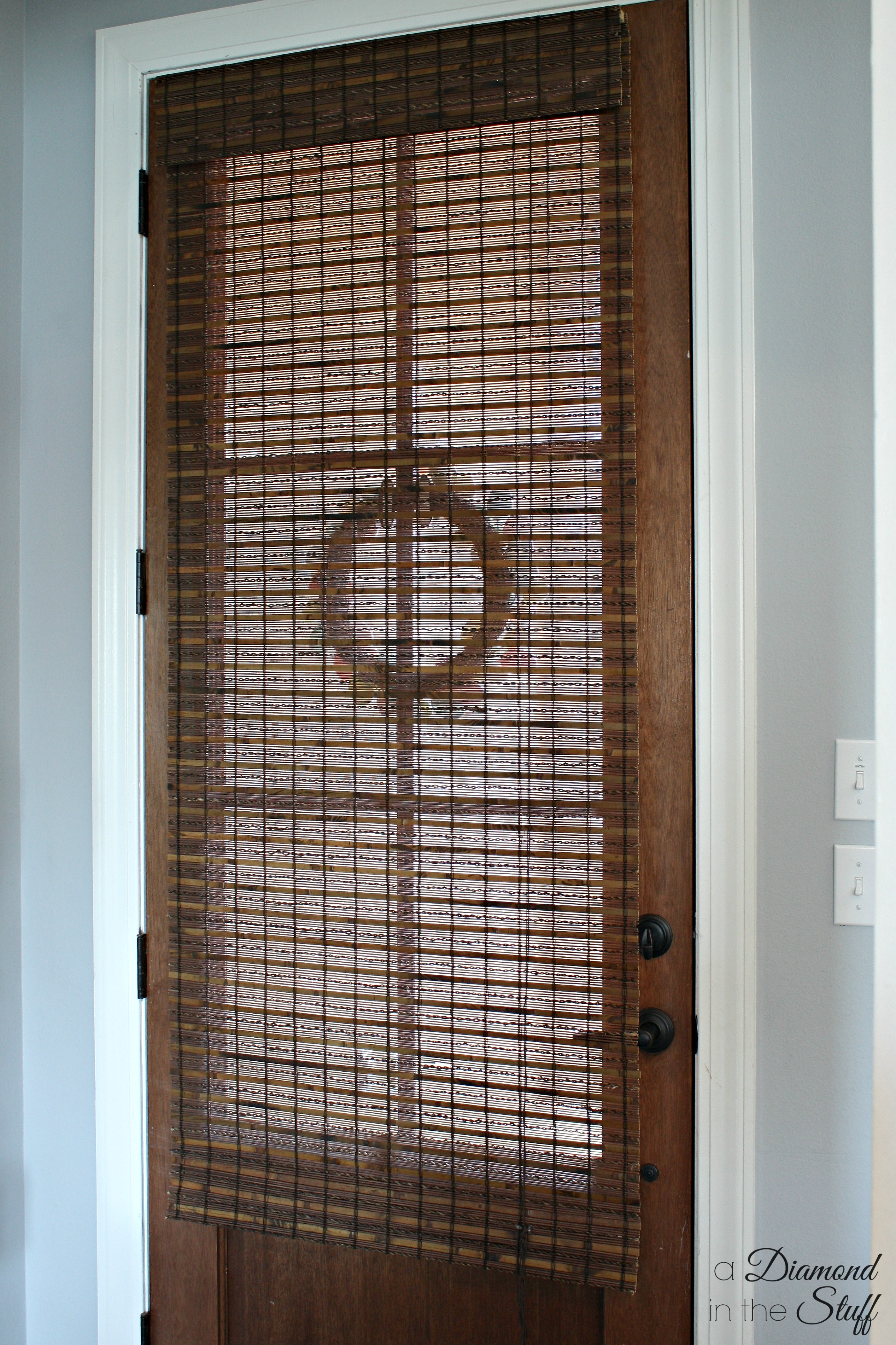 Faux etched glass front door for Things to hang on front door
