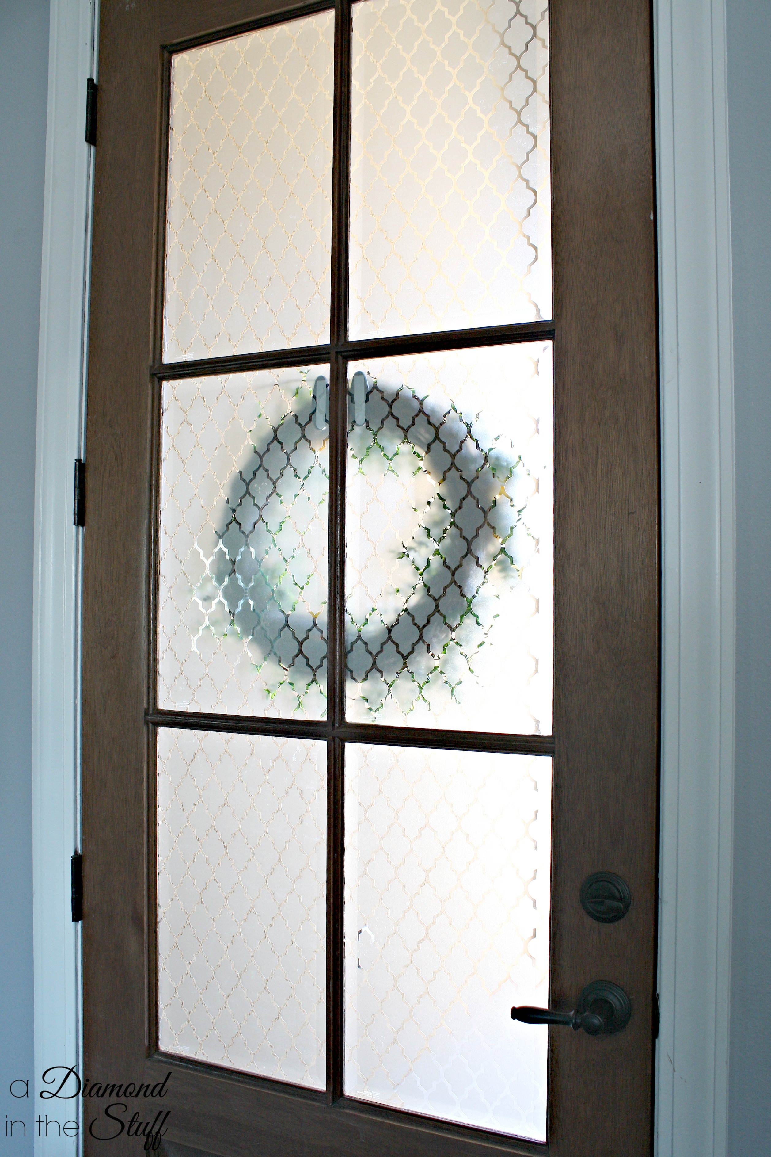 3774 #7C6F4F Faux Etched Glass Front Door image Front Doors With Frosted Glass 38732516