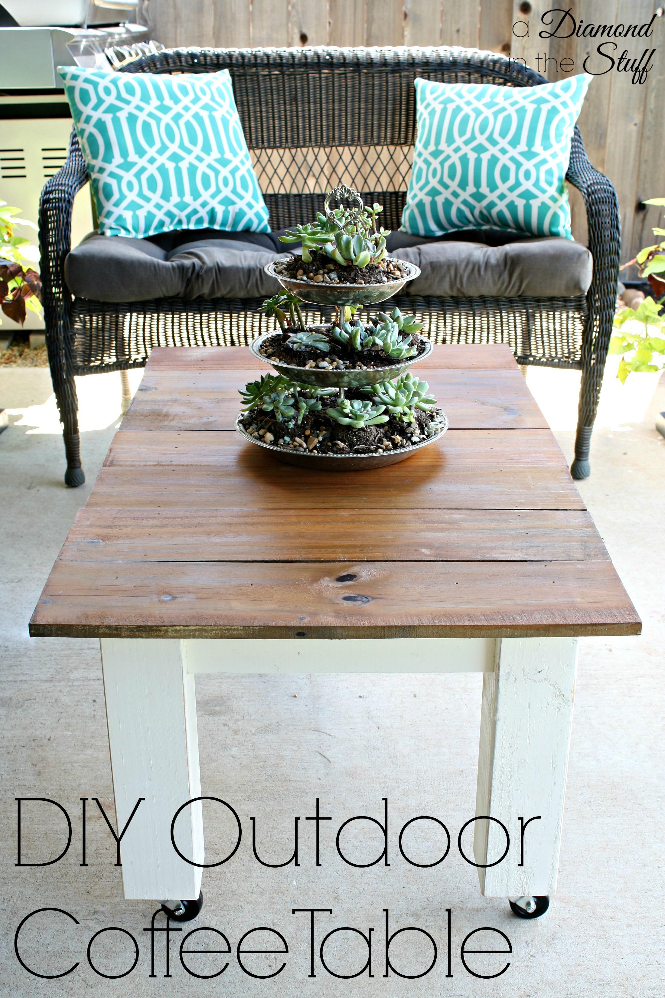 DIY Outdoor Coffee Table A Diamond in the Stuff