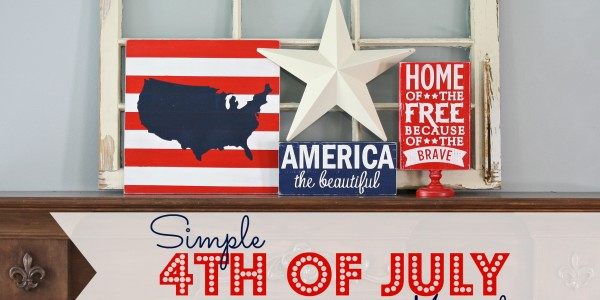Simple 4th of July Mantel @ A Diamond in the Stuff