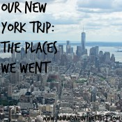 Our New York Trip {The Places We Went}