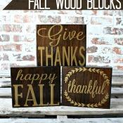 Simple Fall Wood Blocks