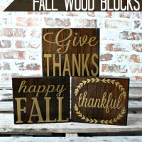 Simple Fall Wood Blocks