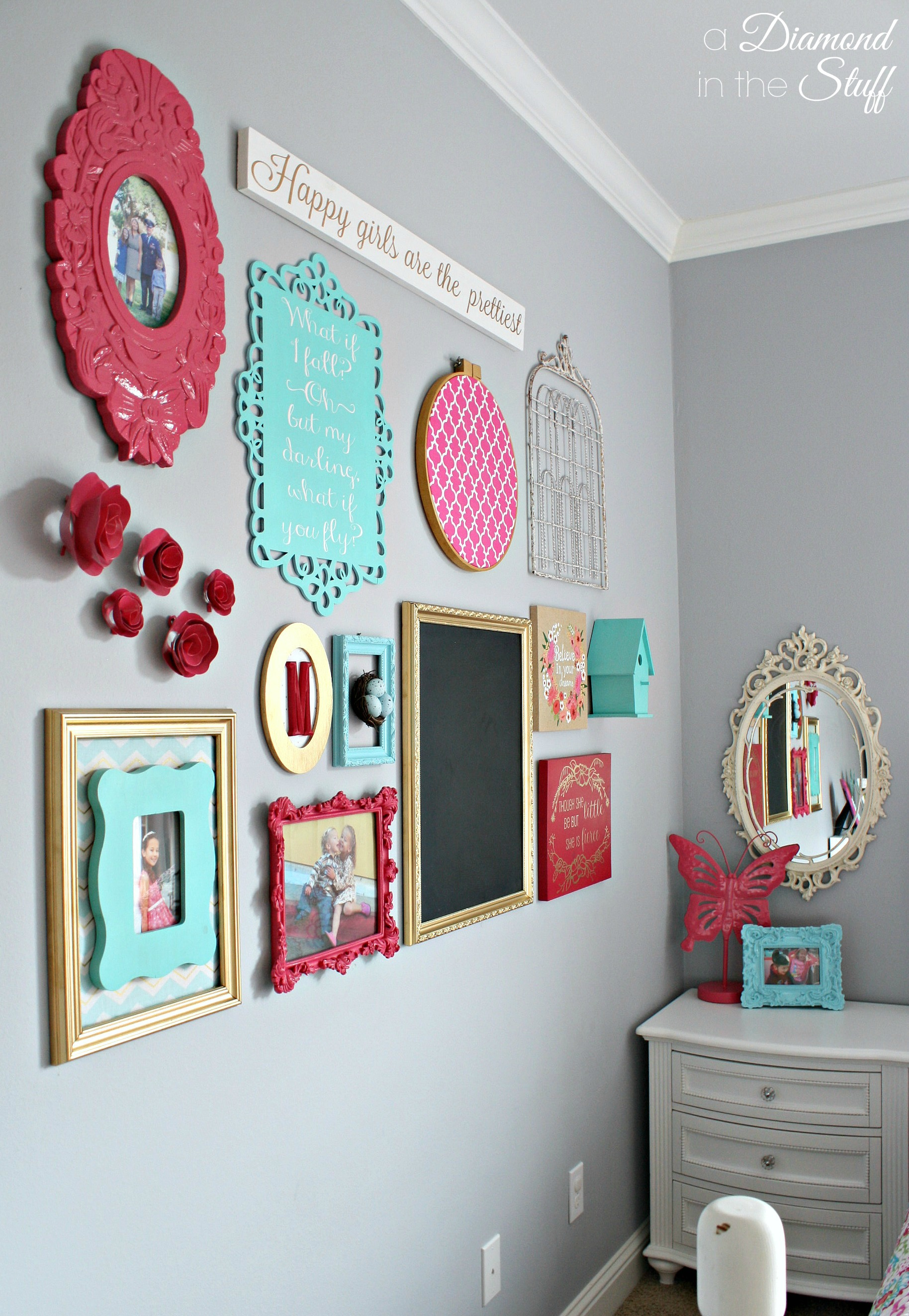 Girl s room gallery wall - Stuff for girls rooms ...