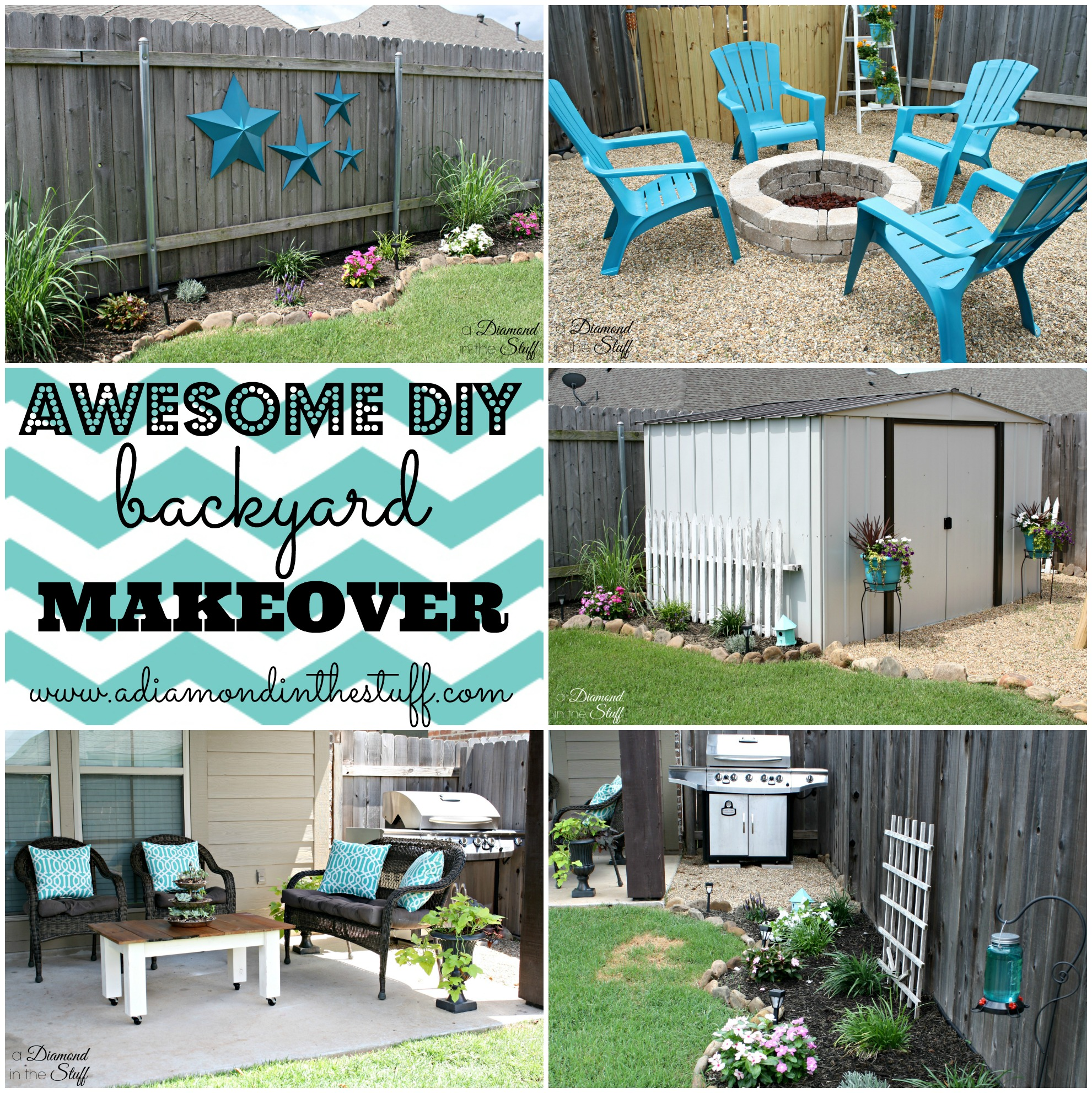 DIY Outdoor Coffee Table - A Diamond in the Stuff on Outdoor Patio Makeover id=28005